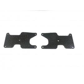Placas carbono trapecio trasero Team Associated Rc8b3.2  2mm