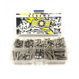 Screw set stainless Steel Button Head M4 - 200 pcs.