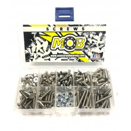Screw set stainless Steel Countersunk M4 - 200 pcs.