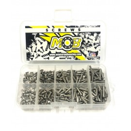 Screw set stainless steel Countersunk and Button M3 - 250 pcs.