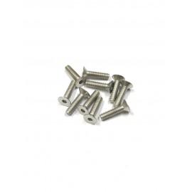 Screws M4x10mm Flat Head - 10 pcs