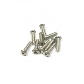 Screws M4x10mm Round Head - 10 pcs