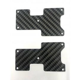 Placas carbono trapecio trasero Hot Bodies D817 - D819 1mm