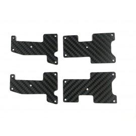 Set placas carbono trapecios Hot Bodies D817 - D819 1mm