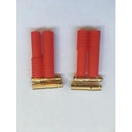 HXT Bullet 4 mm connector - 2 pcs