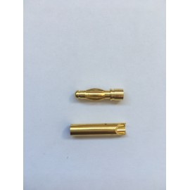 Bullet connector Gold 3 mm - pair